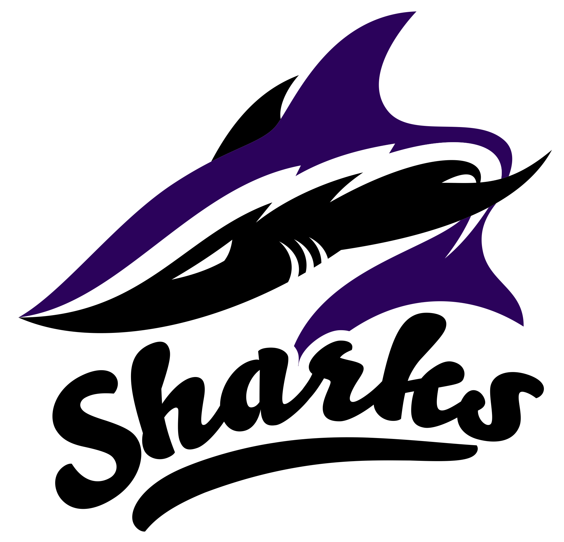 Bay State Sharks Girls Fastpitch Softball Logo
